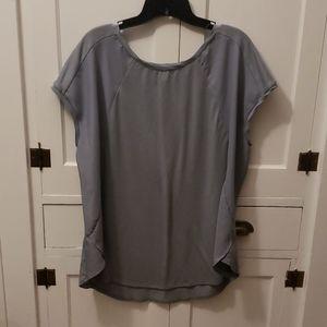 Gray short sleeved blouse